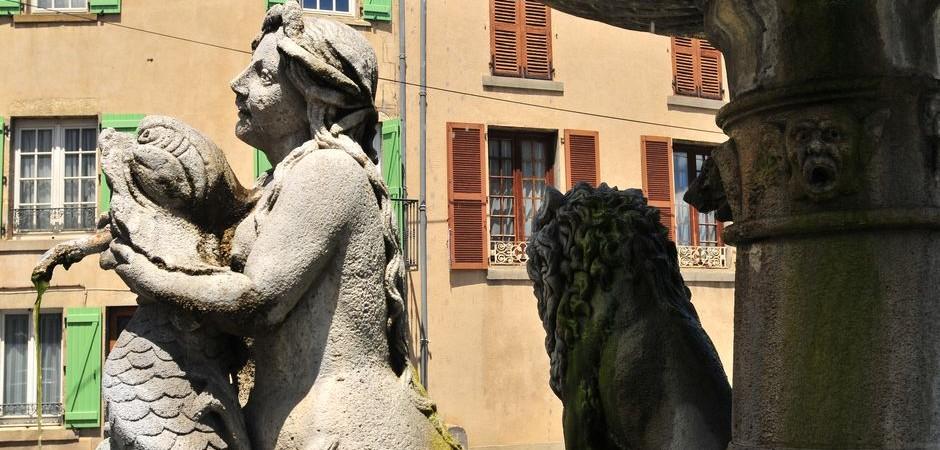 Lion fountain, Plauzat © N. Dutranoy, Pays d'Issoire