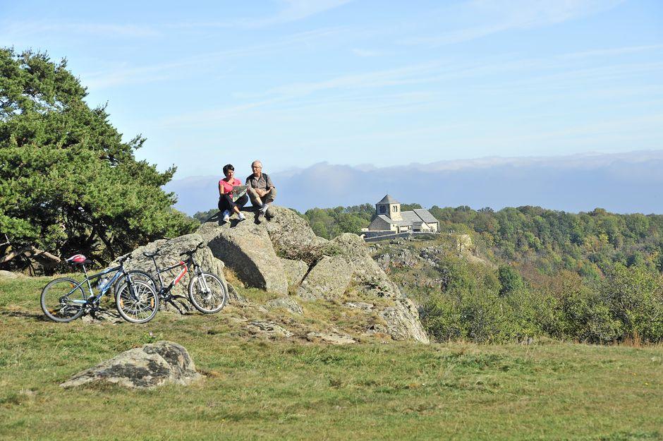 Moutain bike around Dauzat-sur-Vodable, Auvergne
