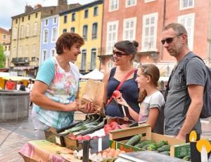 Végétables on Issoire market, Auvergne
