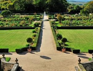 garden, château d'Hauterive, Issoire,Puy-de-Dôme, Auvergne