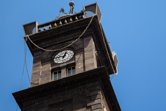The clock tower in Issoire
