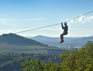 Zip line in Orbeil near Issoire