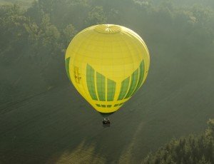 Hot air balloon in Auvergne