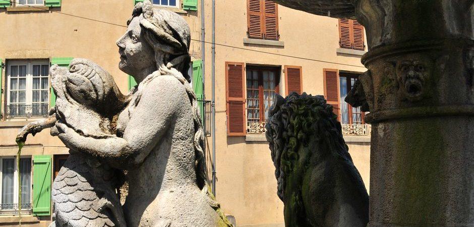 La fontaine des lions, Plauzat © N. Dutranoy, Pays d'Issoire