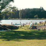 Baignade au plan d'eau du Vernet-la-Varenne, parc du Livradois-Forez