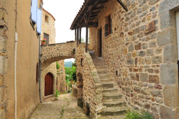 Maison vigneronne à montpeyroux, plus beau village de France, Puy-de-dôme, Auvergne