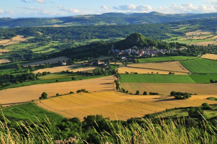 Vodable depuis le village de Solignat, ancienne capitale des dauphins d'Auvergne