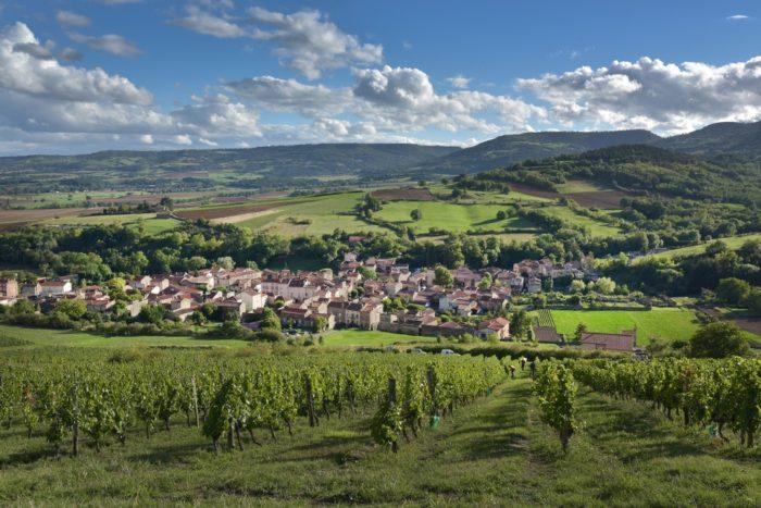 Village de Boudes depuis les coteaux de vigne