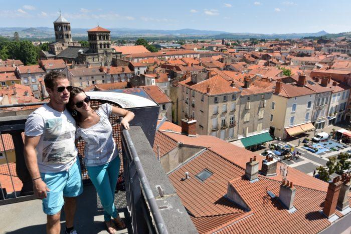 Issoire, depuis la tour de l'horloge Crédit photo : Joël Damase