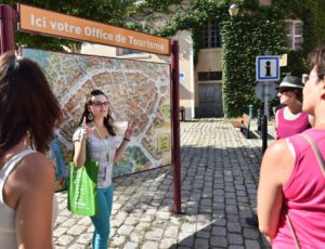 Départ de visite guidée avec l'Office de Tourisme