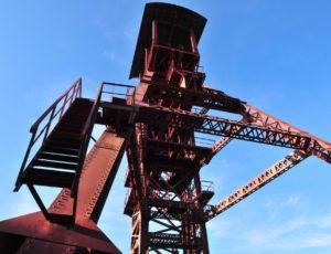 Bassin minier, chevalement à Bayard à Brassac-les-mines, Puy-de-Dôme, Auvergne