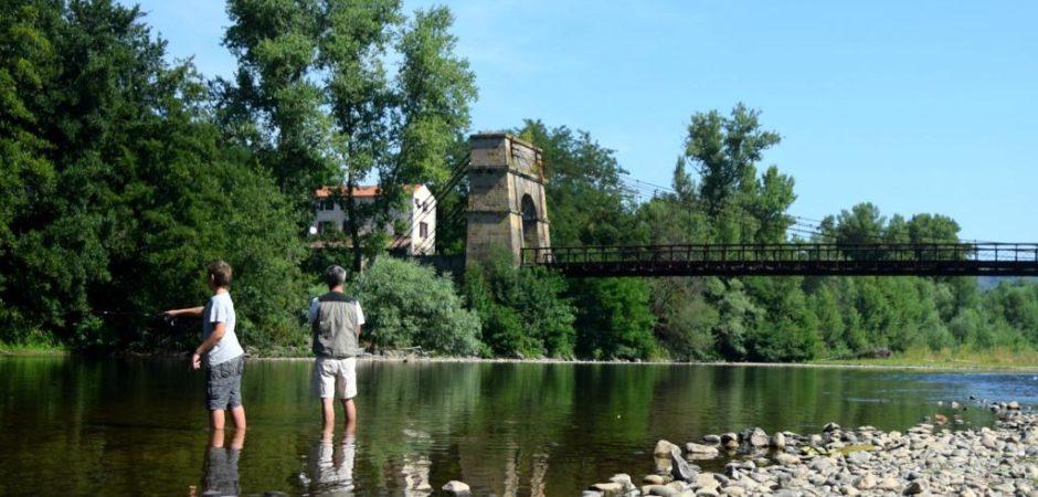 Pêche dans l'Allier @OT Pays d'Issoire