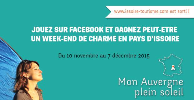 jeu-concours facebook pour sortie du site www.issoire-tourisme.com