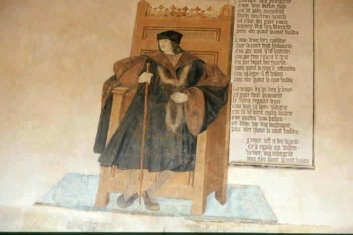 Portrait de Rigaud d'Aureille, dans son château de Villeneuve-Lembron