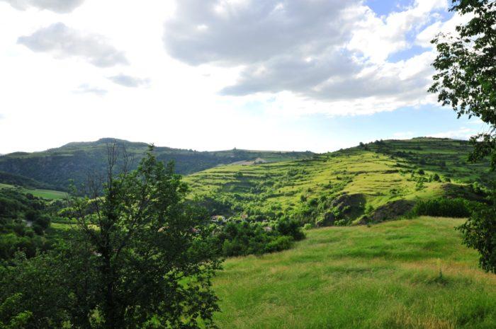 paysage, Saint-Floret, traces de pailhats