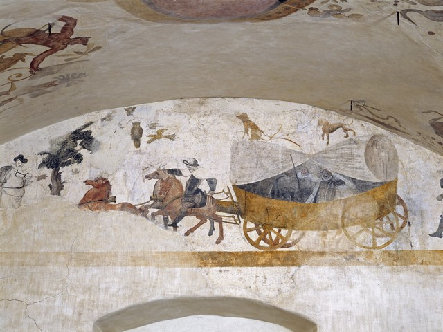 Peintures murales des écuries du château de villeneuve-lembron