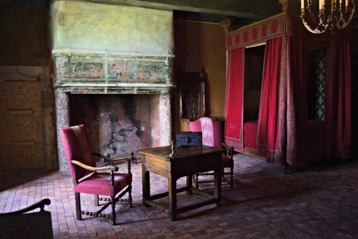 Chambre de Rigaud d'Aureille ou aurait dormi François 1er