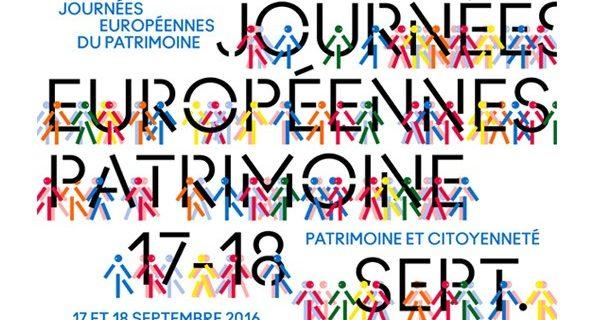 Journées Européennes du Patrimoine les 17 et 18 Sept. 2016