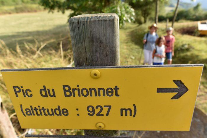 Départ de la randonnée du Pic du Brionnet