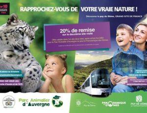 20% de remise pour visiter le parc animalier d'Auvergne ou le panoramique des dômes