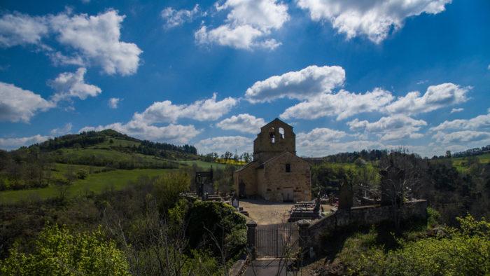 Chapelle de Saint-Hérent vu en drone