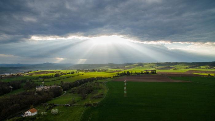 Vue d'Issoire en drone