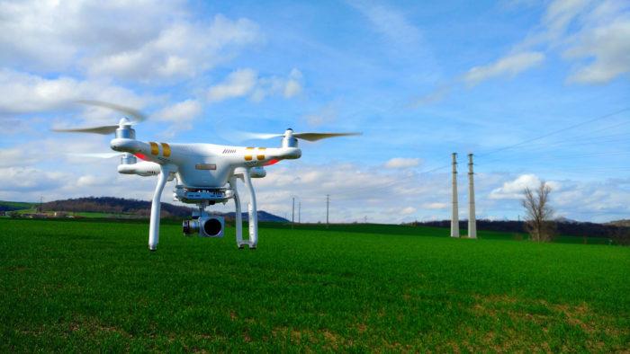 Issoire vu d'un drone, drone dji phantom