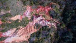La vallée des saints , vue aérienne, vu d'un drone