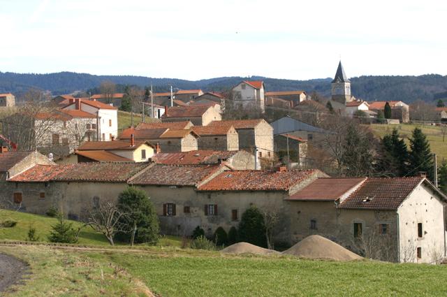 Village de champagnat le jeune, puy-de-dome, auvergne