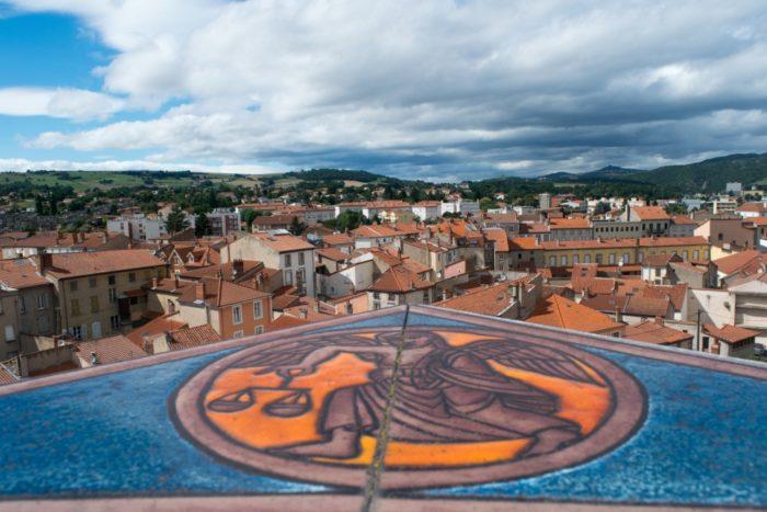Vue depuis la tour de l'horloge, Issoire