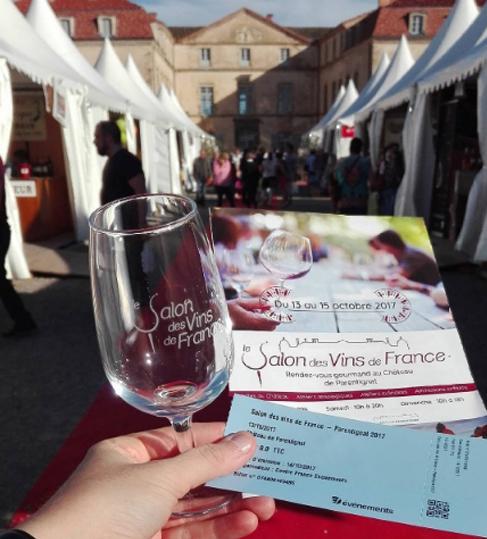 Arrivée au salon des vins au château de Parentignat