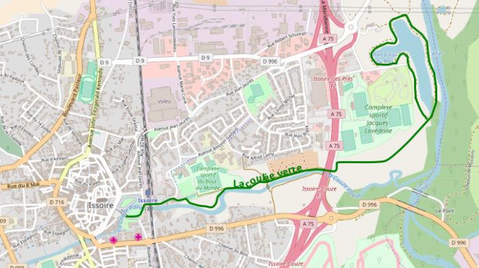 tracé de la coulée verte