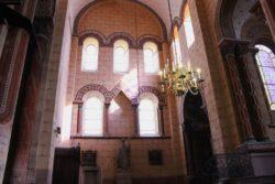 Travaux à l'abbatiale Saint-Austremoine : restauration des peintures transept Nord
