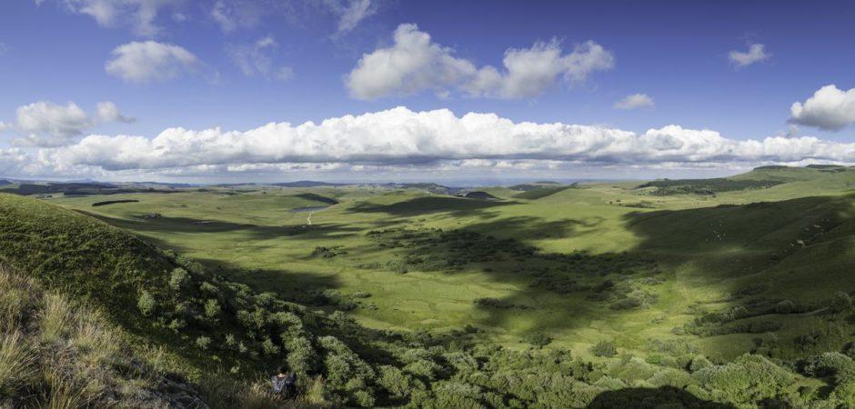 Vue sur le Cézallier depuis le mont Chamaroux
