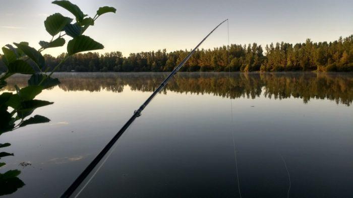 pêche au lever du jour au plan d'eau des mayères
