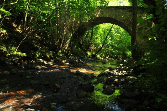 pont sur la couze d'Ardes en direction de Rentières