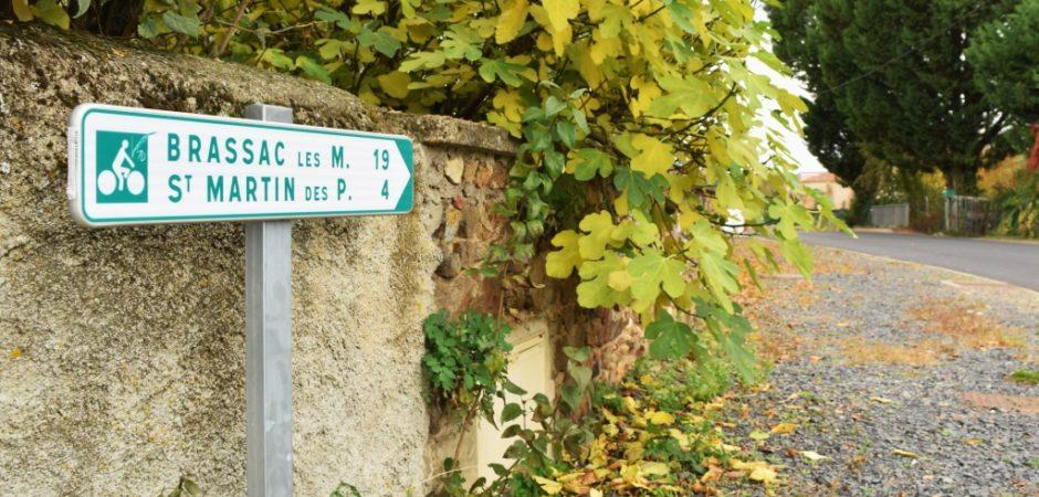 Balisage de la véloroute V70 à St Rémy de Chargnat @g-douard