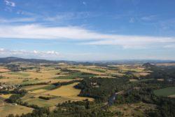 Vol au dessus de l'allier d'Issoire à Nonette, vue aérienne