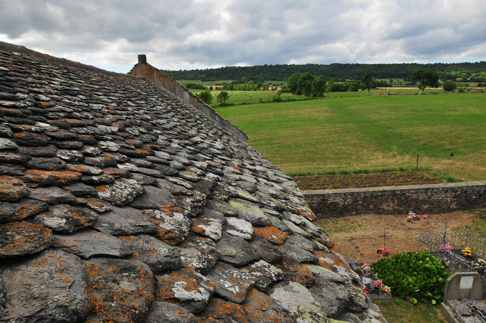 toit de lauzes, église de Colamine-sur-Vodable