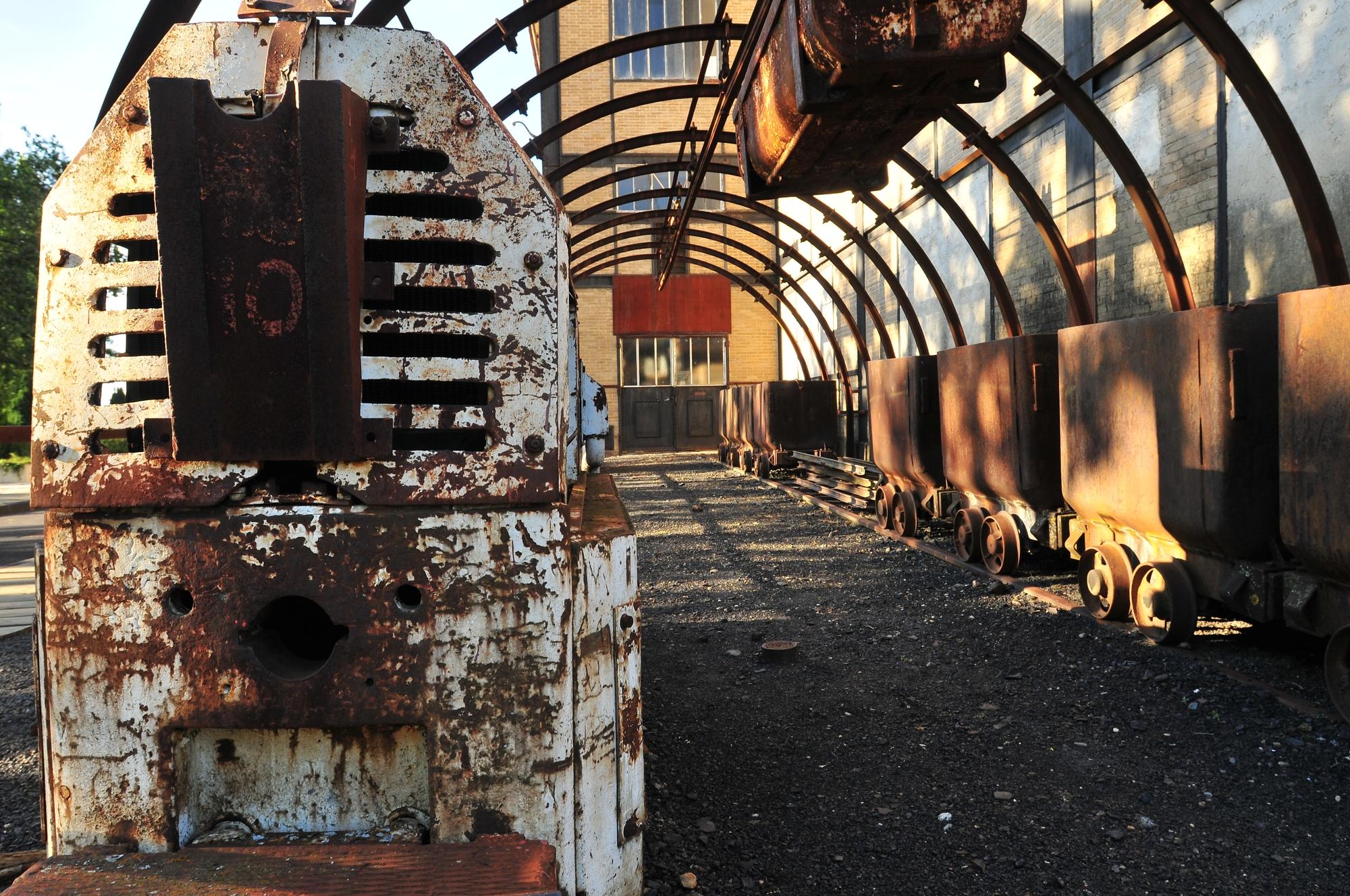 Devant le musée de la mine à Brassac-les-mines
