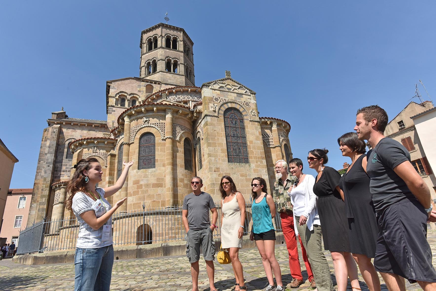 Visite de l'abbatiale Saint-Austremoine à issoire