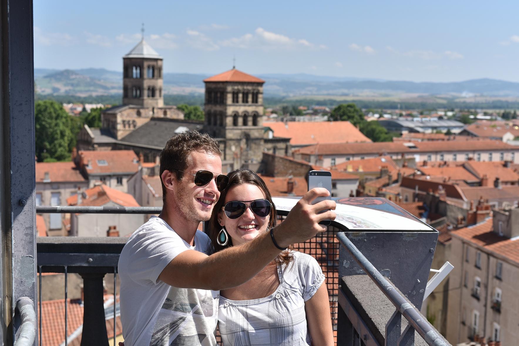 En haut de la tour de l'horloge, Issoire