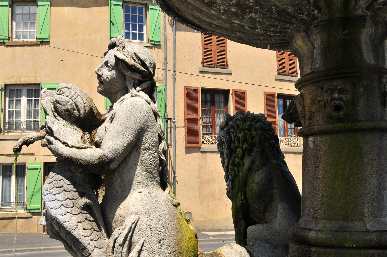 Fontaine aux lions, Plauzat