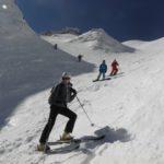 ski de randonnée avec le bureau des guides d'auvergne